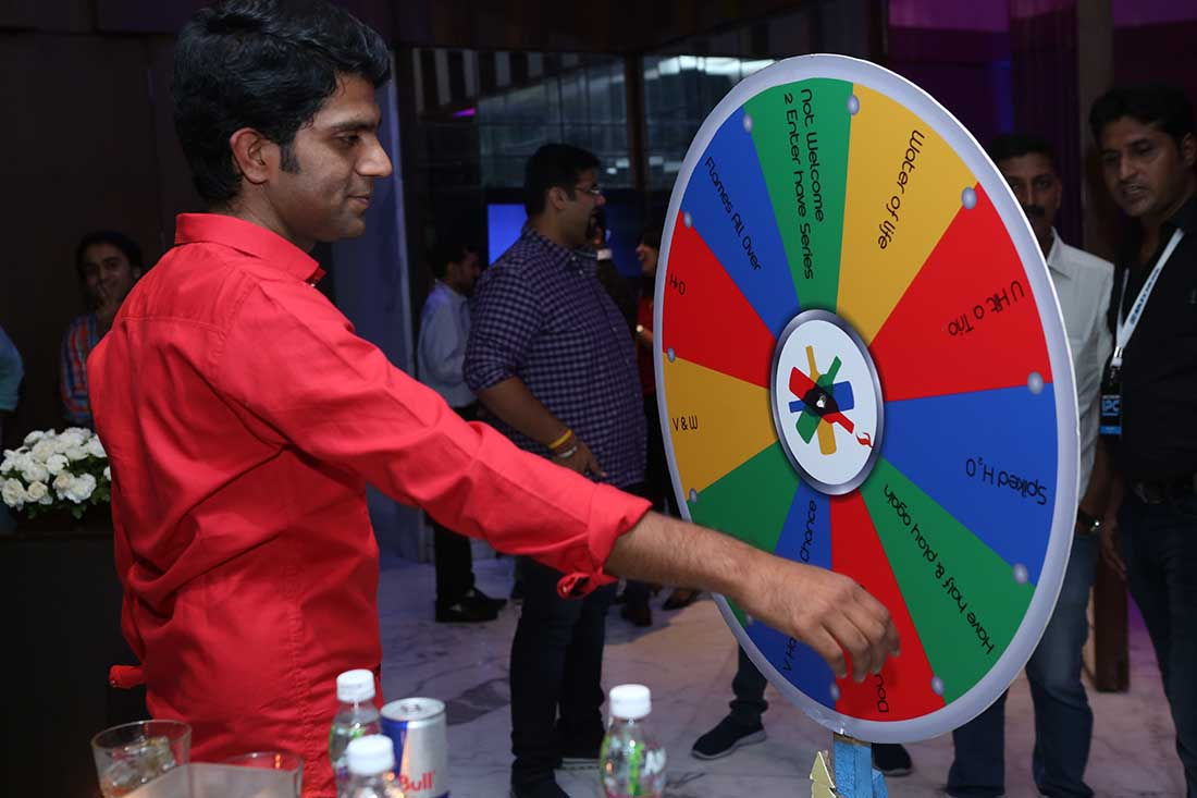 Bar Games at theme party organized by Pegasus Events Pvt Ltd
