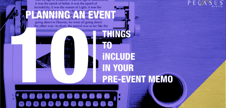 10 things to include within your pre-event memo