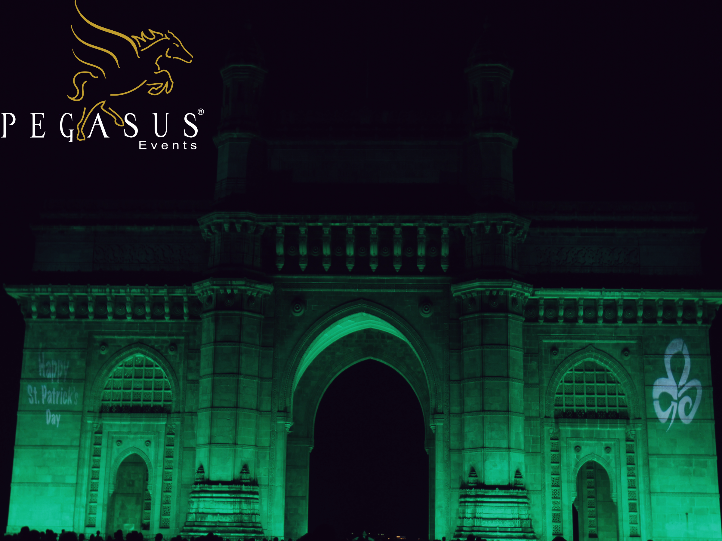 Gateway of India Illumination by Pegasus Events for St.Patricks Day