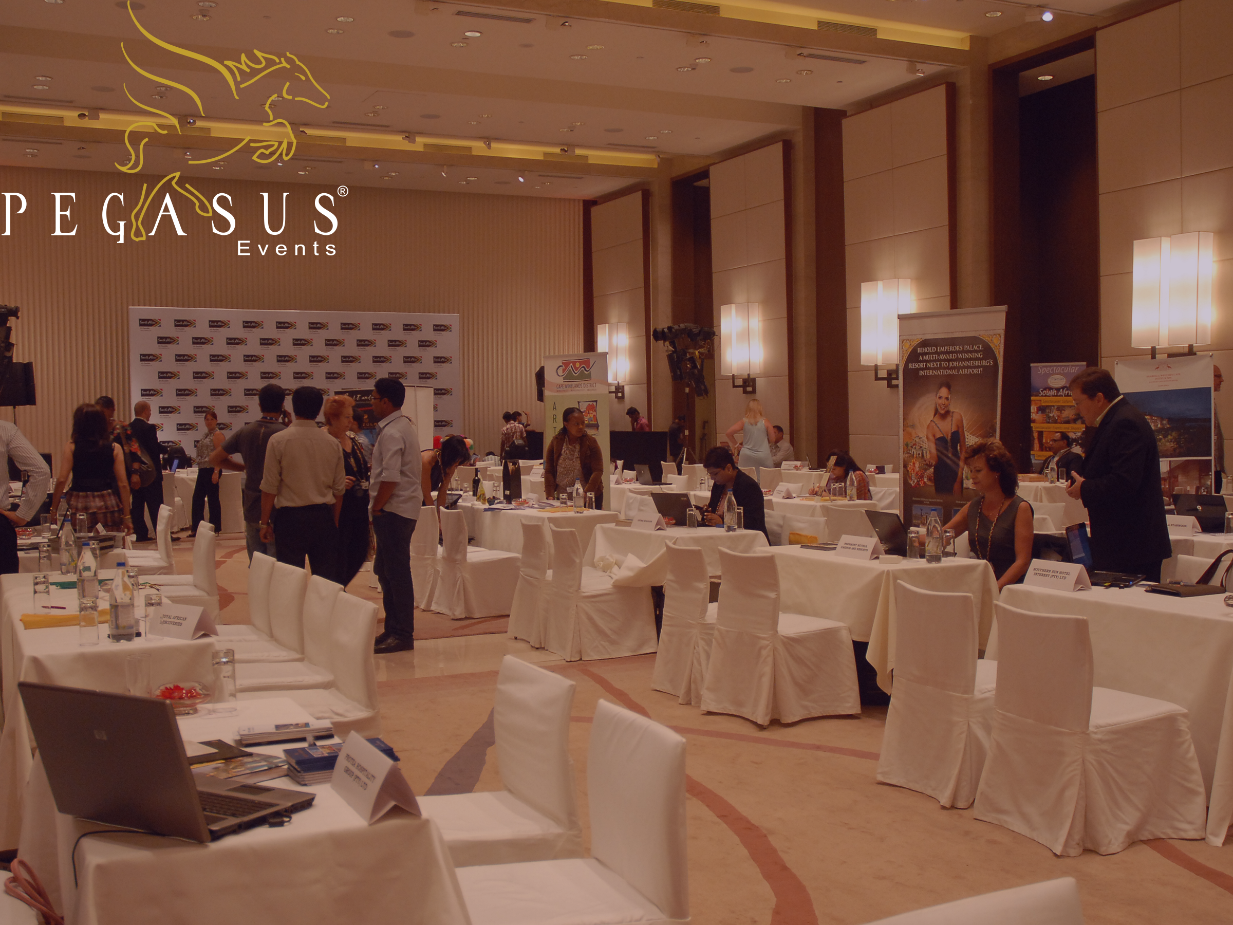 Trade Partners get ready at the Tourism Roadshow Event organized by Pegasus Events