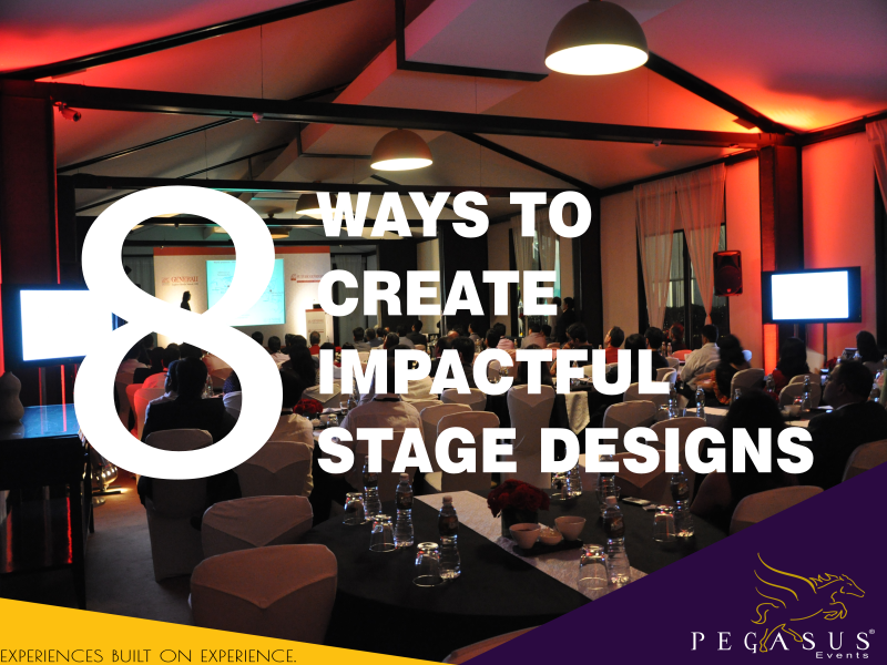 8 Ways to create impactful event stage designs